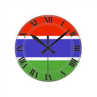 ガンビアの旗 ラウンド壁時計