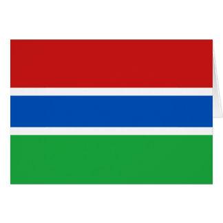 ガンビアの旗Notecard カード