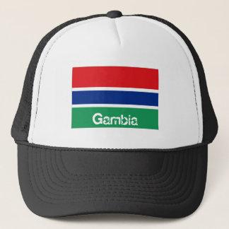 ガンビアのgambian旗のトラック運転手の網の記念品の帽子 キャップ