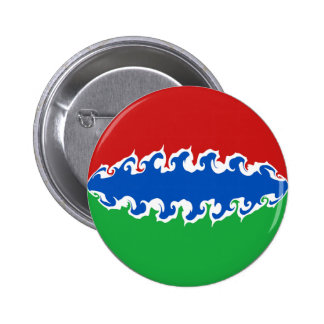 ガンビア|すごい|旗 缶バッジ