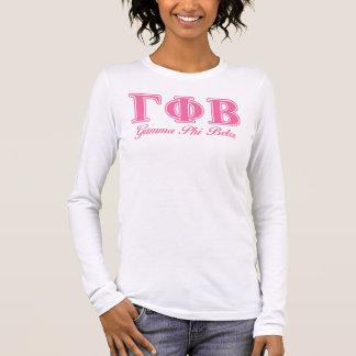 ガンマのファイのベータピンクの手紙 Tシャツ