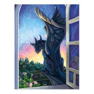 ガーゴイルの保護者のファンタジーの芸術 ポストカード
