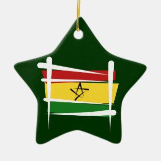 ガーナのブラシの旗 セラミックオーナメント