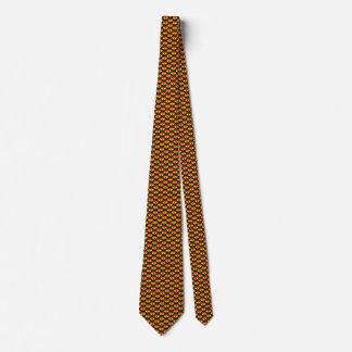 ガーナの旗のハートのタイ ネクタイ