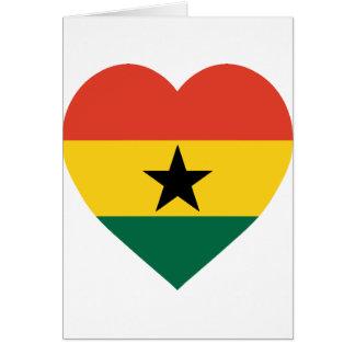 ガーナの旗のハート カード