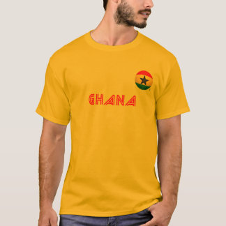 ガーナ-黒はフットボールを主演します Tシャツ