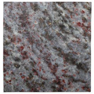 ガーネットが付いている片麻岩の石の表面 ナプキンクロス