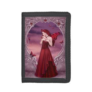 ガーネットBirthstoneの妖精の三つ折り財布