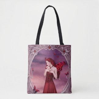 ガーネットBirthstoneの妖精の全にプリントのトートバック トートバッグ