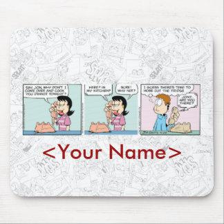 ガーフィールドの毎日の続きこま漫画のマウスパッド マウスパッド