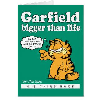 ガーフィールドの英雄的なメッセージカード グリーティングカード