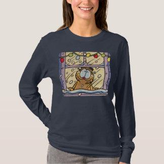 ガーフィールドクリスマスイブの女性のTシャツ Tシャツ