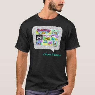 ガーフィールド日曜日の続きこま漫画のデザイン Tシャツ