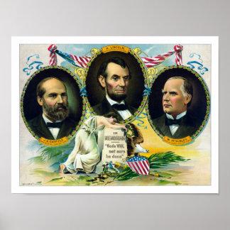 ガーフィールド、リンカーンおよびマッキンリー -- Memoriam ポスター