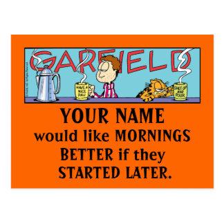ガーフィールドLogoboxの朝の郵便はがき ポストカード