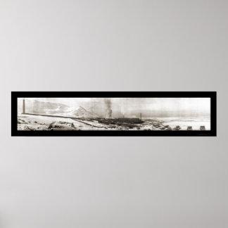 ガーフィールドUTの製錬所の写真1910年 ポスター