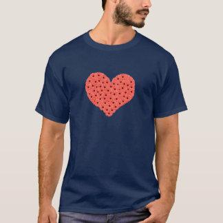 ガーベラによってはハートの青のTシャツが開花します Tシャツ