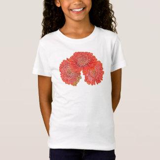 ガーベラのデイジーのカスタマイズ可能な子供のTシャツ Tシャツ