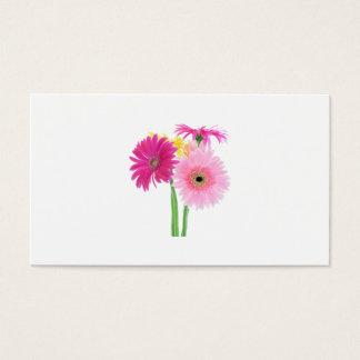 ガーベラのデイジーのピンク 名刺