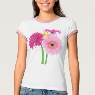 ガーベラのデイジーのピンク Tシャツ