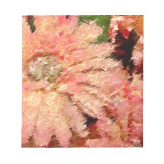 ガーベラのデイジーの抽象芸術 ノートパッド