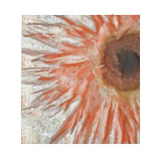 ガーベラのデイジーの目 ノートパッド