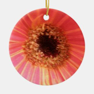 ガーベラのデイジーの花のカスタムの誕生日 セラミックオーナメント