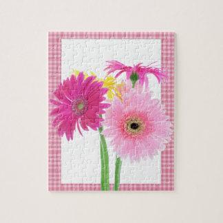 ガーベラのデイジーの花 ジグソーパズル