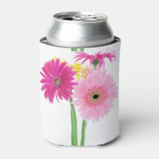 ガーベラのデイジーの花 缶クーラー