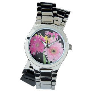 ガーベラのデイジーの花 腕時計
