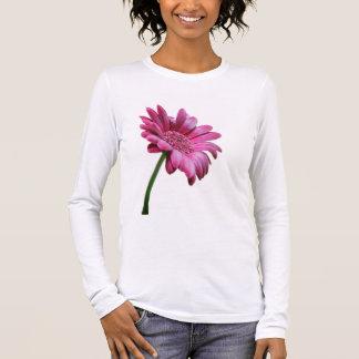 ガーベラのデイジーの長袖のTシャツ 長袖Tシャツ