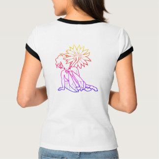 ガーベラの女の子(数々のな色)の整えられたティー Tシャツ