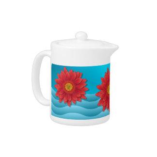 ガーベラの花のデジタルイラストレーションの赤