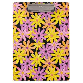 ガーベラの花模様、背景 クリップボード