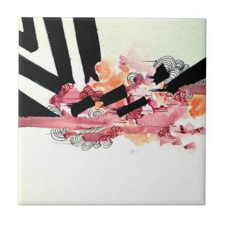 ガーリーでエレガントでロマンチックな抽象美術の渦巻 タイル