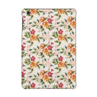 ガーリーでシックな花パターン水彩画の絵
