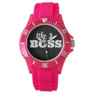 ガーリーでスポーティな腕時計-ボスのような… 腕時計