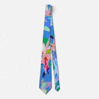 ガーリーでフェミニンで抽象的な花パターン ネクタイ
