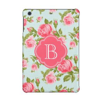 ガーリーでロマンチックな花のヴィンテージのバラのモノグラム iPad MINI RETINAケース