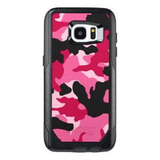 ガーリーで暗いピンクの木炭迷彩柄のカムフラージュパターン オッターボックスSamsung GALAXY S7 EDGEケース