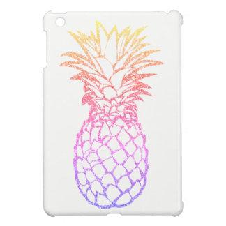 ガーリーで模造のなグリッターのパイナップル白のiPad Miniケース iPad Miniケース