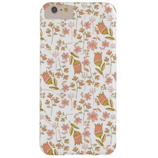 ガーリーで甘い蜂蜜によっては珊瑚のピンクの花柄が開花します BARELY THERE iPhone 6 PLUS ケース