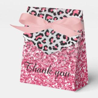 ガーリーで粋なフーセンガムのピンクのヒョウのアニマルプリント フェイバーボックス