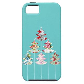 ガーリーなクリスマスツリーのヴィンテージの花柄の場合 iPhone SE/5/5s ケース