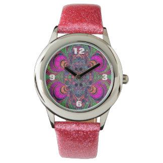 ガーリーなグリッターの腕時計 腕時計