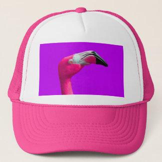 ガーリーなショッキングピンクのフラミンゴのトラック運転手の帽子 キャップ