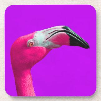ガーリーなショッキングピンクのフラミンゴのプラスチックコースター コースター