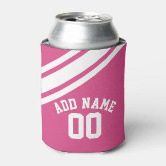 ガーリーなスポーツのジャージーの名前をカスタムする数 缶クーラー