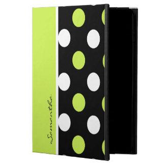 ガーリーなダマスク織および水玉模様2パターン POWIS iPad AIR 2 ケース