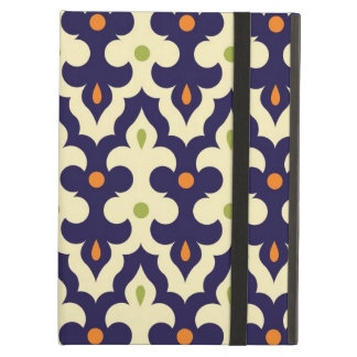 ガーリーなダマスク織のペイズリーのアラベスクのモロッコパターン iPad AIRケース